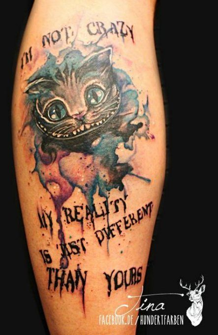 Cheshire Cat Tattoo Ideas Pictures (190)