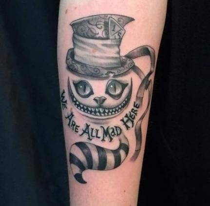Cheshire Cat Tattoo Ideas Pictures (20)