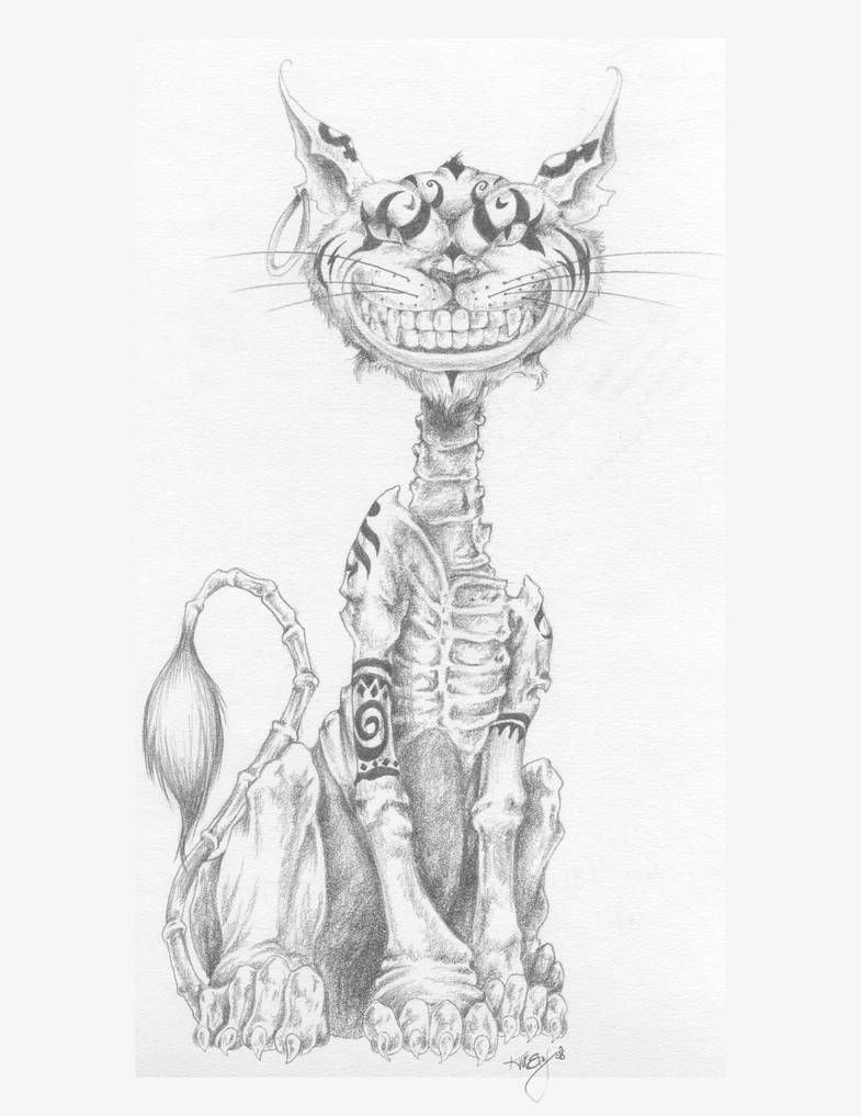 Cheshire Cat Tattoo Ideas Pictures (201)