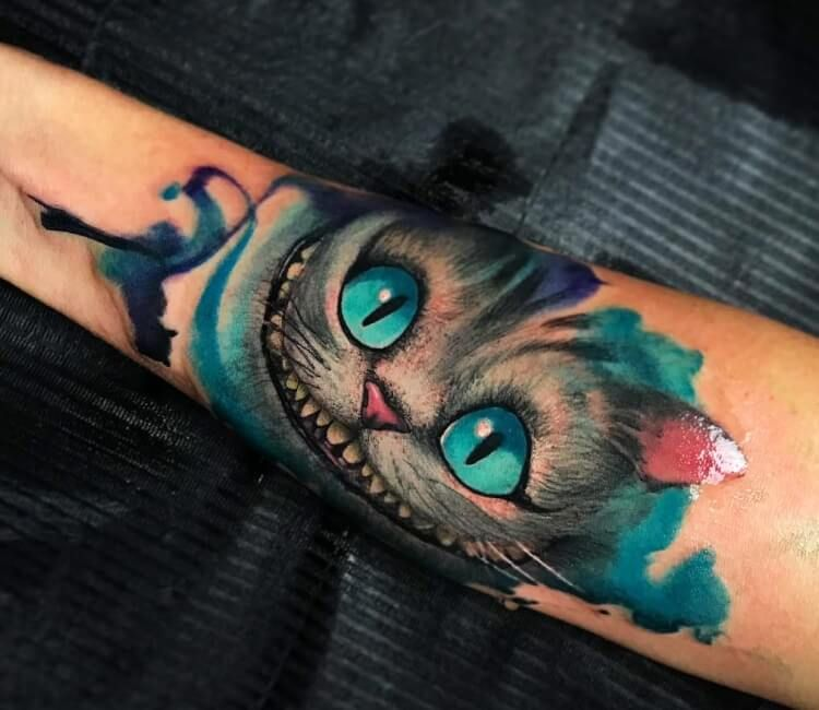Cheshire Cat Tattoo Ideas Pictures (202)