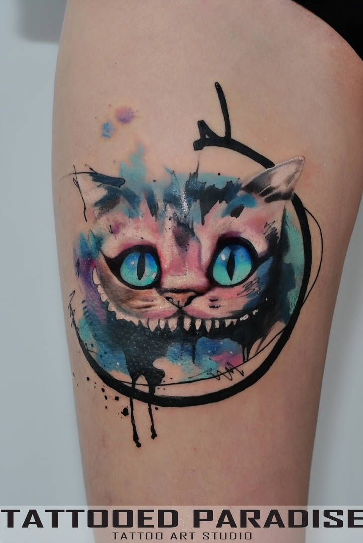 Cheshire Cat Tattoo Ideas Pictures (203)