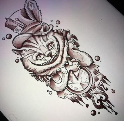 Cheshire Cat Tattoo Ideas Pictures (205)