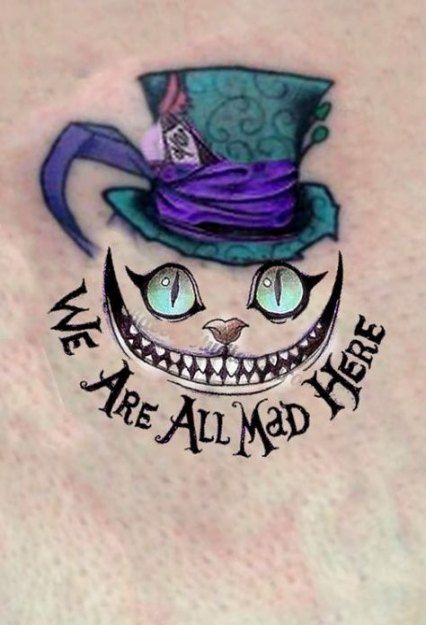 Cheshire Cat Tattoo Ideas Pictures (209)