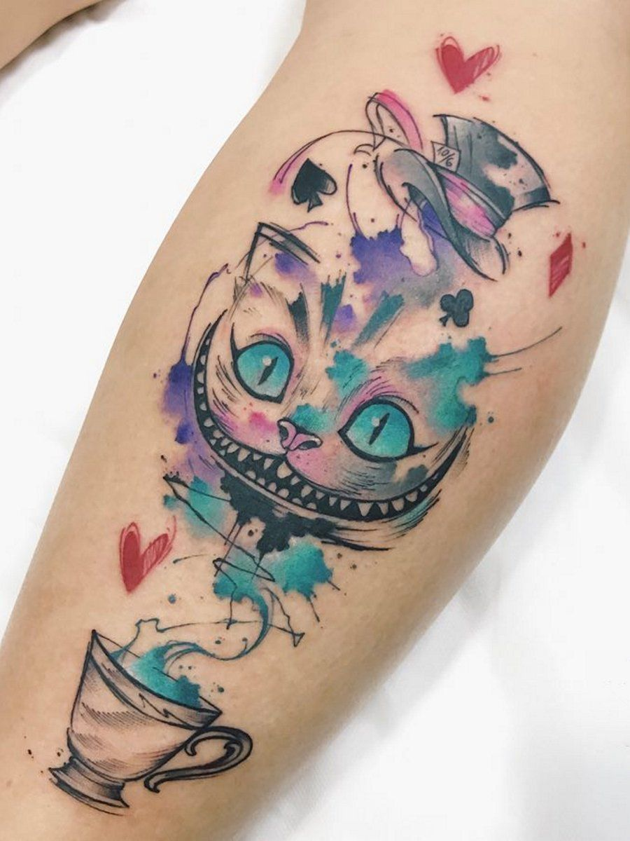 Cheshire Cat Tattoo Ideas Pictures (21)