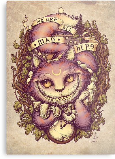 Cheshire Cat Tattoo Ideas Pictures (210)
