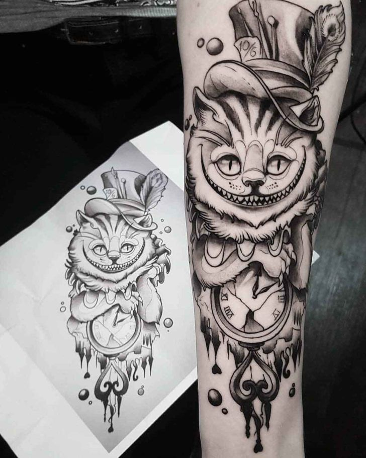Cheshire Cat Tattoo Ideas Pictures (216)