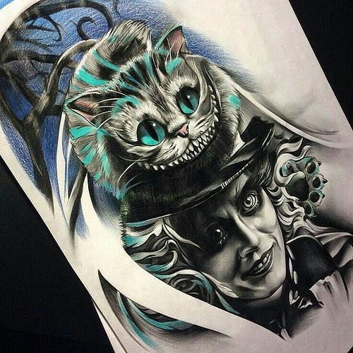 Cheshire Cat Tattoo Ideas Pictures (218)