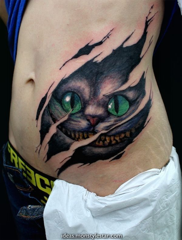 Cheshire Cat Tattoo Ideas Pictures (25)