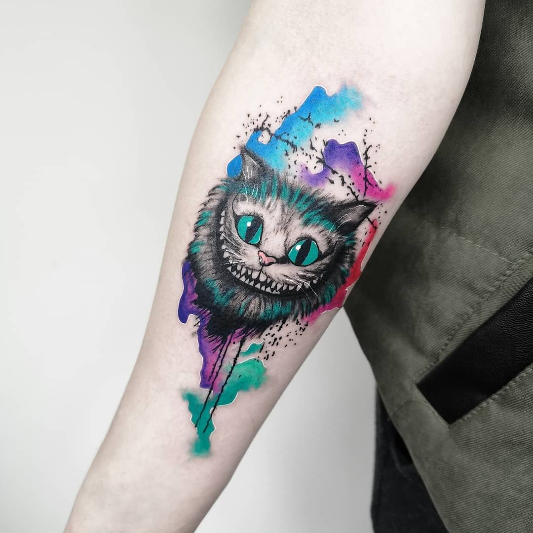 Cheshire Cat Tattoo Ideas Pictures (26)