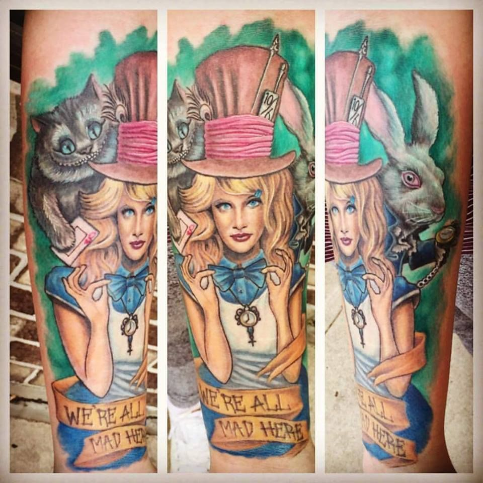 Cheshire Cat Tattoo Ideas Pictures (29)