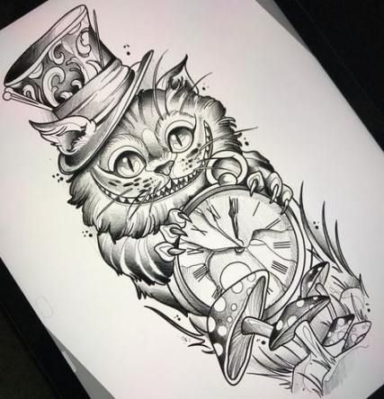 Cheshire Cat Tattoo Ideas Pictures (38)