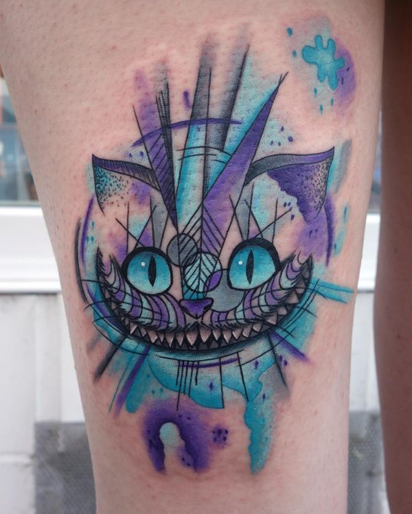 Cheshire Cat Tattoo Ideas Pictures (42)