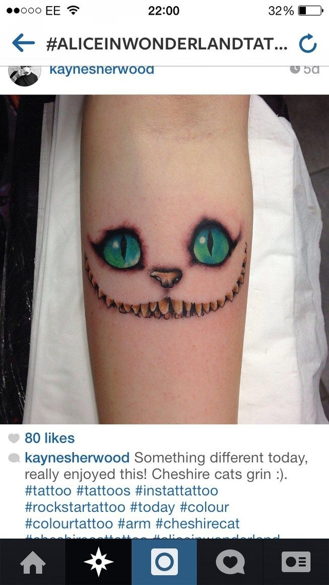 Cheshire Cat Tattoo Ideas Pictures (43)