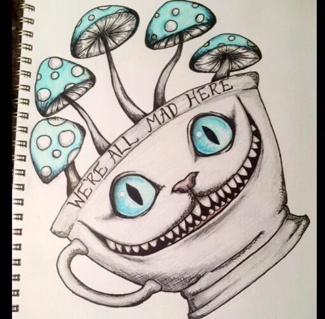 Cheshire Cat Tattoo Ideas Pictures (44)