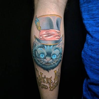 Cheshire Cat Tattoo Ideas Pictures (49)