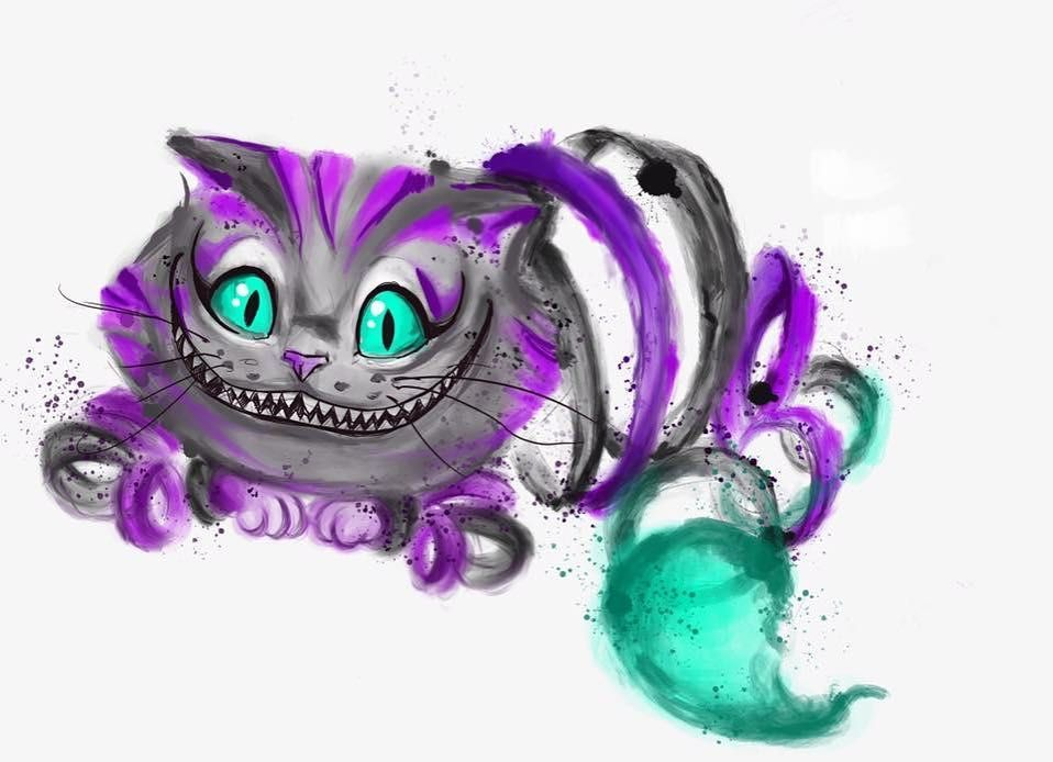 Cheshire Cat Tattoo Ideas Pictures (68)