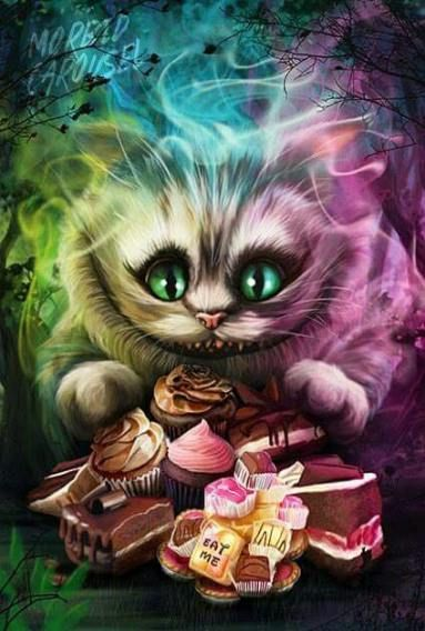 Cheshire Cat Tattoo Ideas Pictures (76)