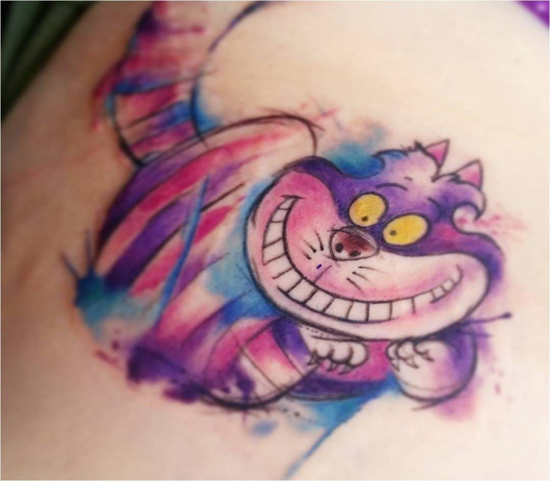Cheshire Cat Tattoo Ideas Pictures (80)