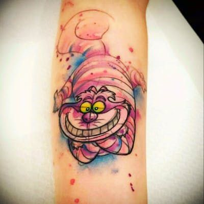 Cheshire Cat Tattoo Ideas Pictures (81)