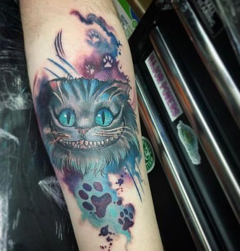 Cheshire Cat Tattoo Ideas Pictures (88)
