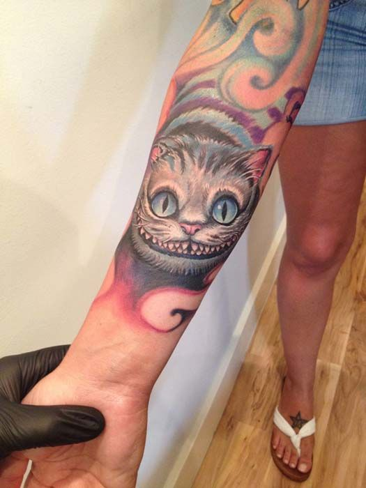 Cheshire Cat Tattoo Ideas Pictures (97)