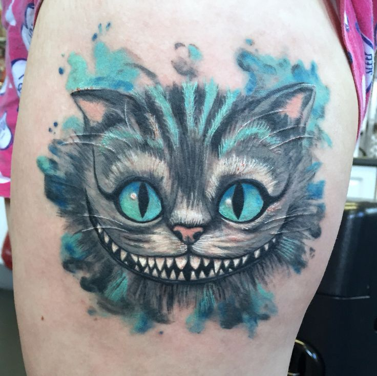 Cheshire Cat Tattoo Ideas Pictures (99)