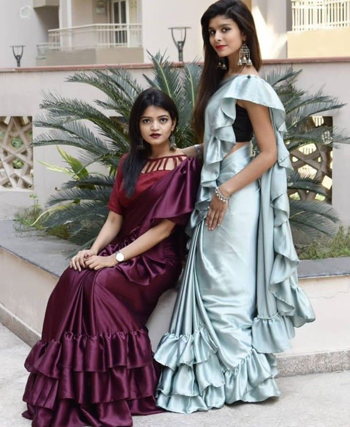 Different Saree Wearing Style (100)