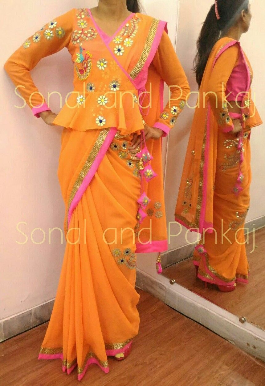 Different Saree Wearing Style (114)