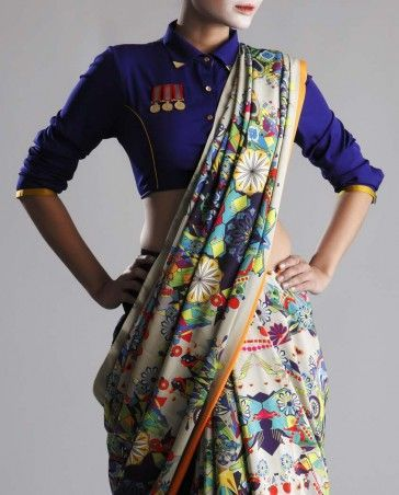Different Saree Wearing Style (133)
