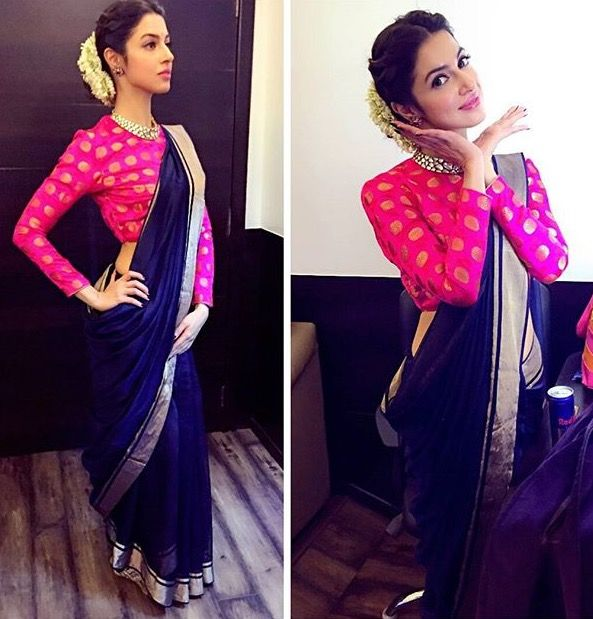 Different Saree Wearing Style (147)