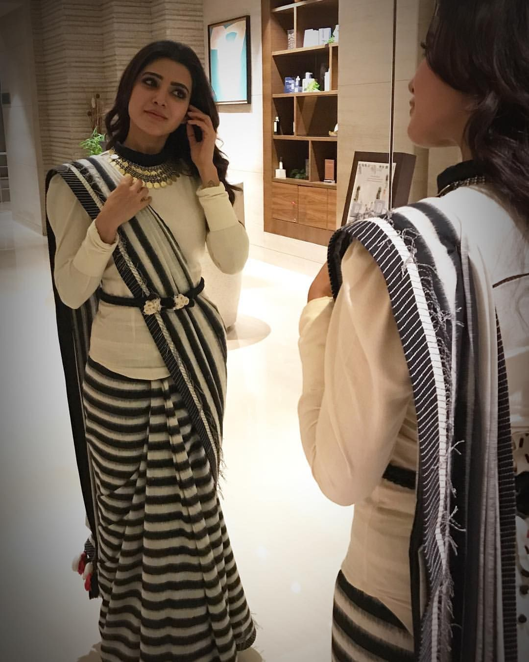 Different Saree Wearing Style (152)
