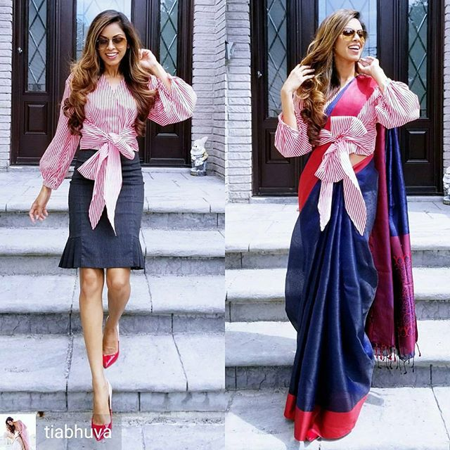 Different Saree Wearing Style (159)