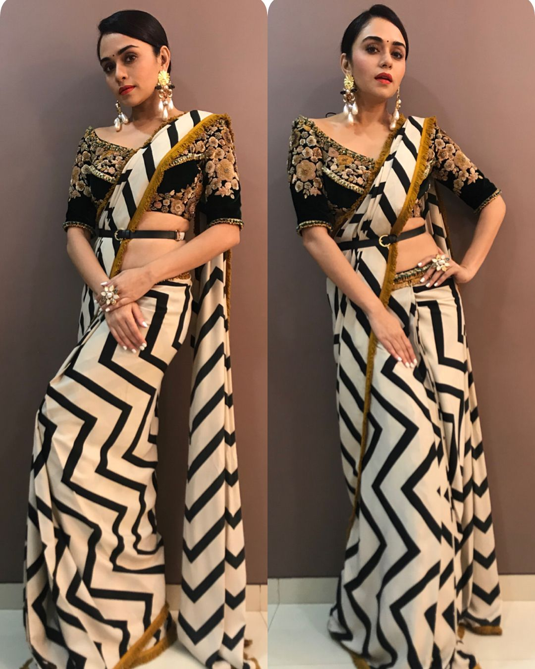 Different Saree Wearing Style (161)