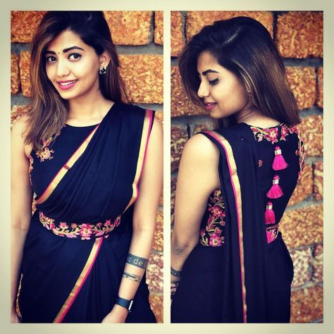 Different Saree Wearing Style (177)