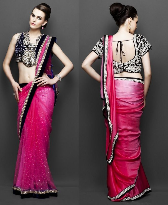 Different Saree Wearing Style (178)