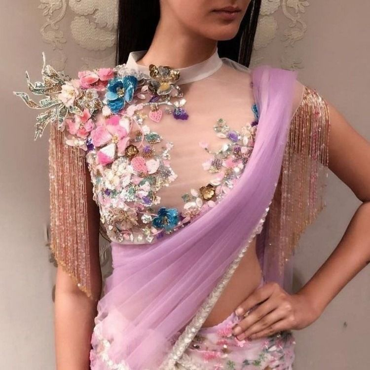 Different Saree Wearing Style (183)