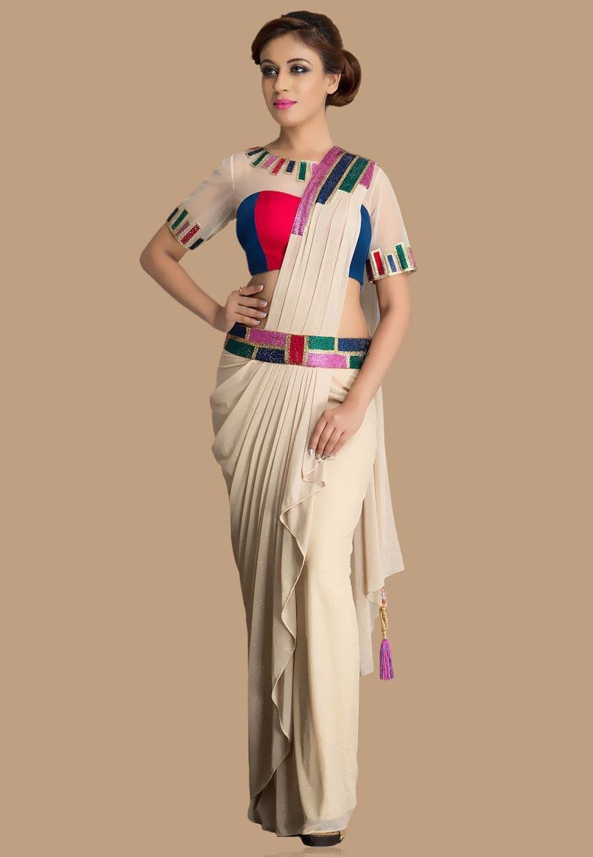 Different Saree Wearing Style (208)