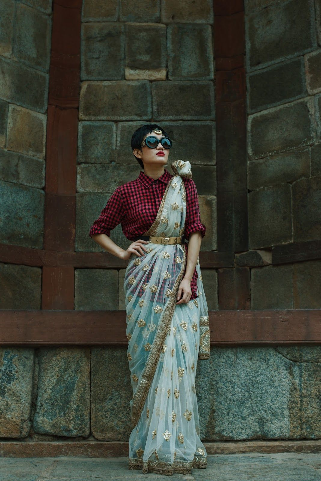 Different Saree Wearing Style (216)
