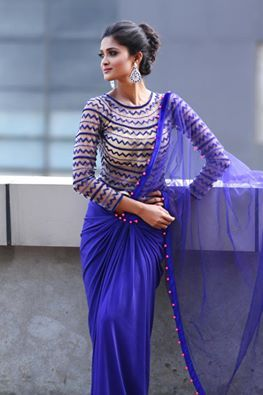 Different Saree Wearing Style (232)