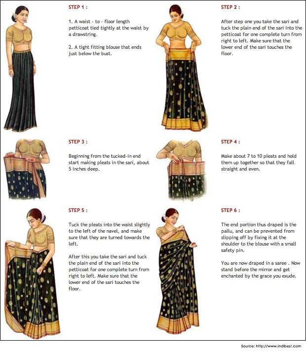 Different Saree Wearing Style (282)