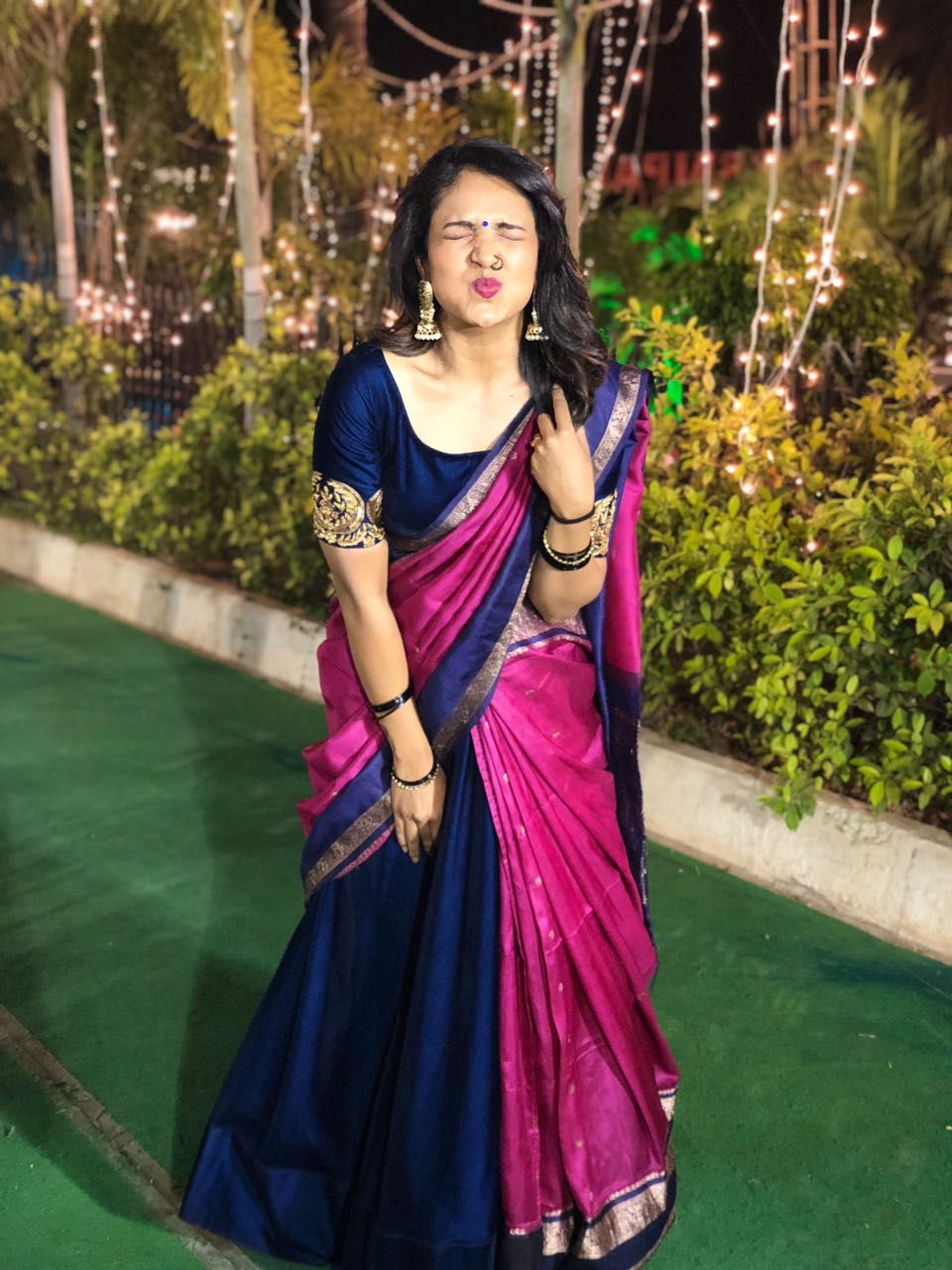 Different Saree Wearing Style (288)