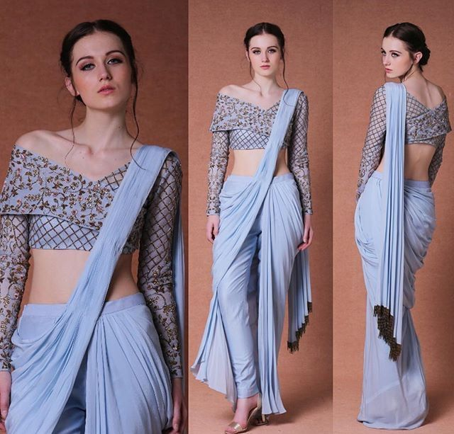 Different Saree Wearing Style (290)