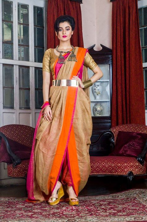 Different Saree Wearing Style (304)