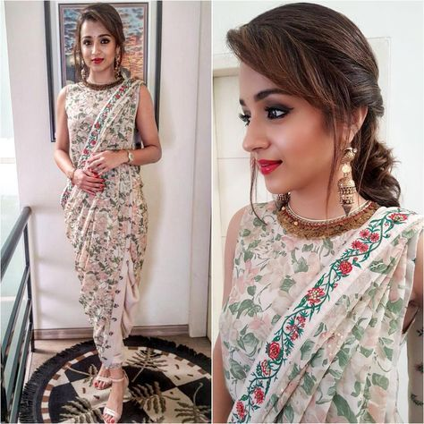 Different Saree Wearing Style (323)