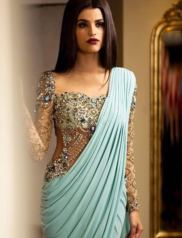 Different Saree Wearing Style (326)