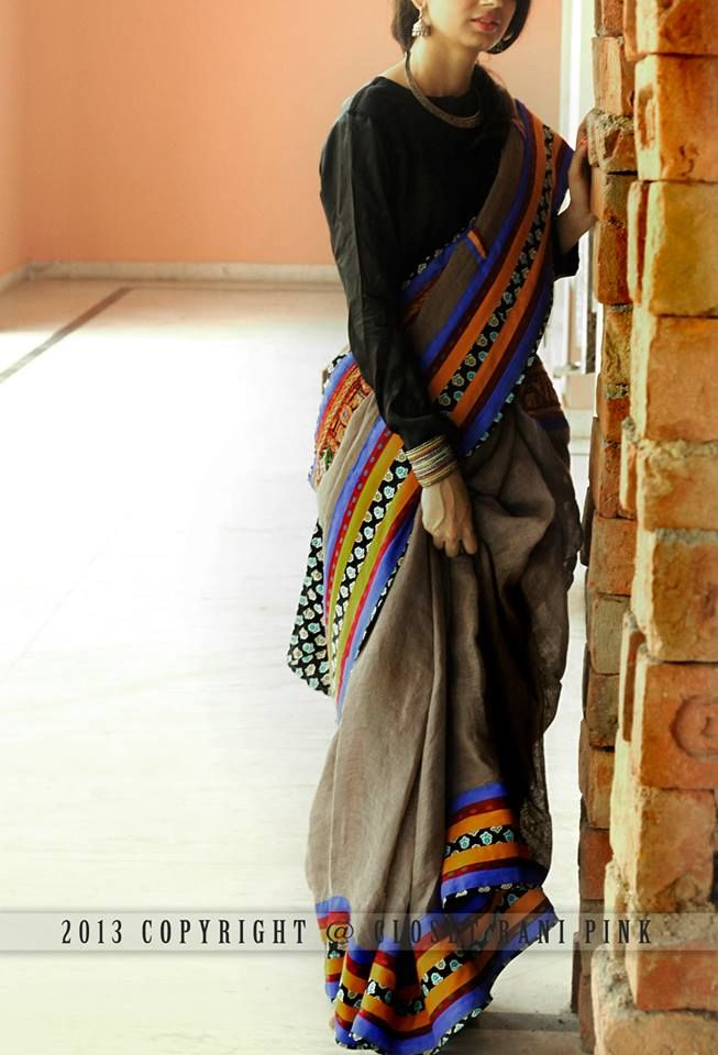 Different Saree Wearing Style (332)