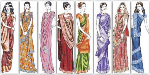 Different Saree Wearing Style (338)