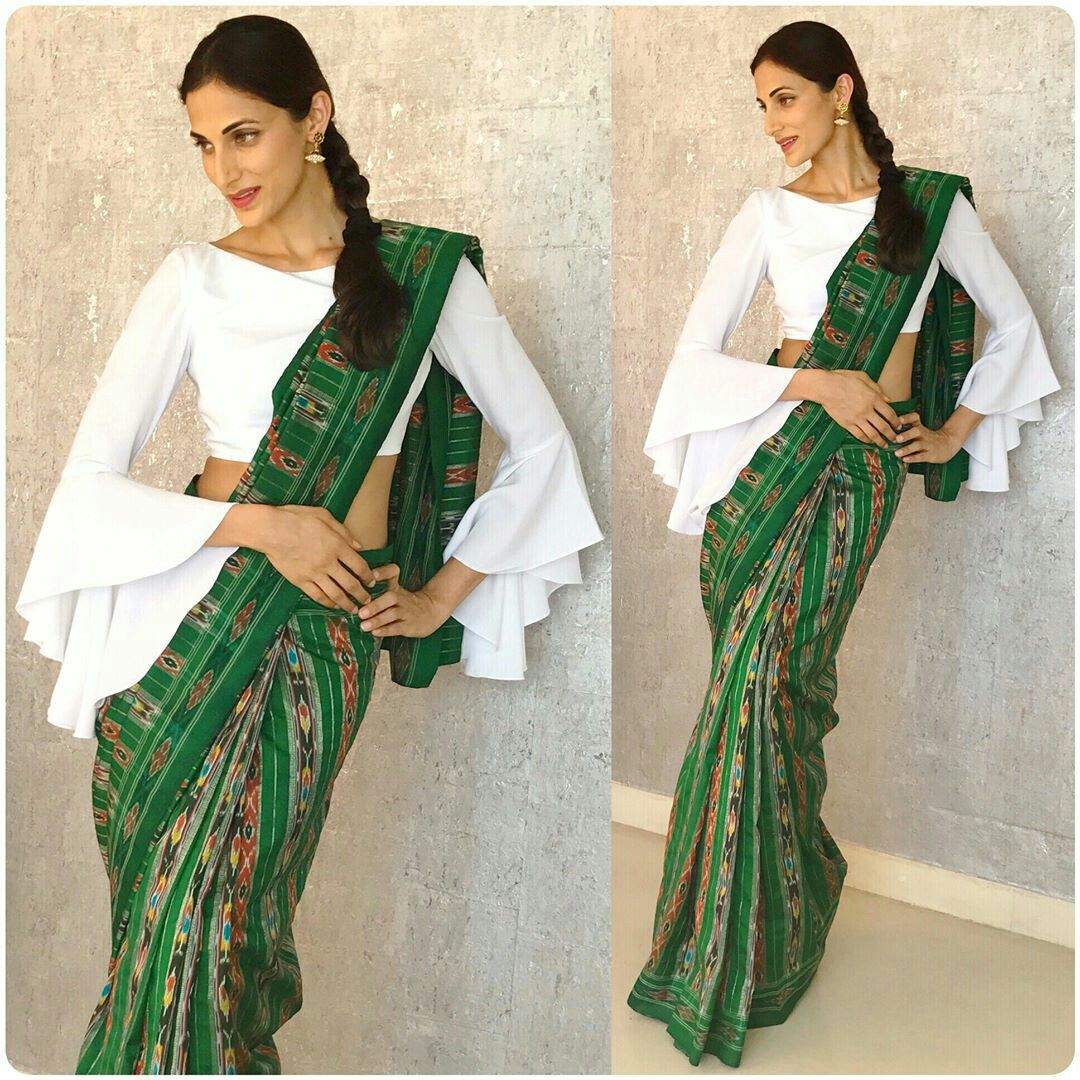 Different Saree Wearing Style (42)