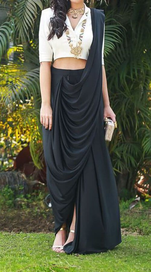 Different Saree Wearing Style (94)