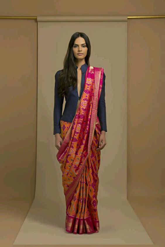 Different Saree Wearing Style (96)
